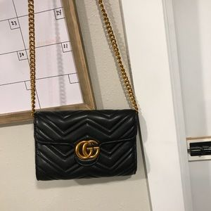 Gucci GG Marmont Quilted Leather Purse